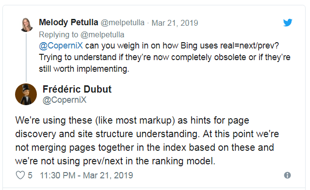 Bing Uses rel=Next and rel=Prev For Discovery not for Merging Pages2