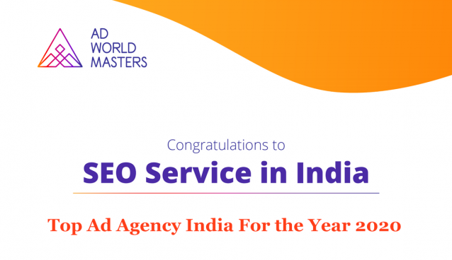 SEO Service In India - Awarded as Agency of the Year 2020 By Ad World Masters